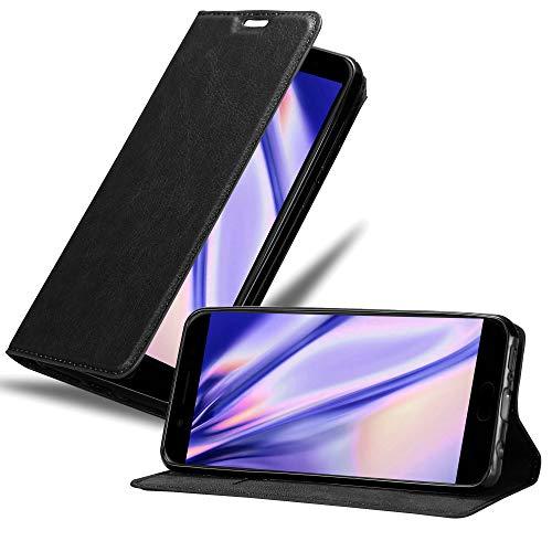 Cadorabo Hülle für Xiaomi Black Shark - Hülle in Nacht SCHWARZ – Handyhülle mit Magnetverschluss, Standfunktion & Kartenfach - Hülle Cover Schutzhülle Etui Tasche Book Klapp Style