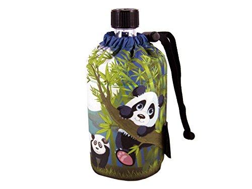 Emil die Flasche 3010.40 Hits4Kids Panda Trinkflasche aus Glas 0,3l