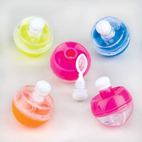 Baker Ross mini-cirkel zeepbellen met draaisluiting voor kinderen om te spelen - geweldig als cadeautje en prijs bij kinderverjaardag - 8 stuks