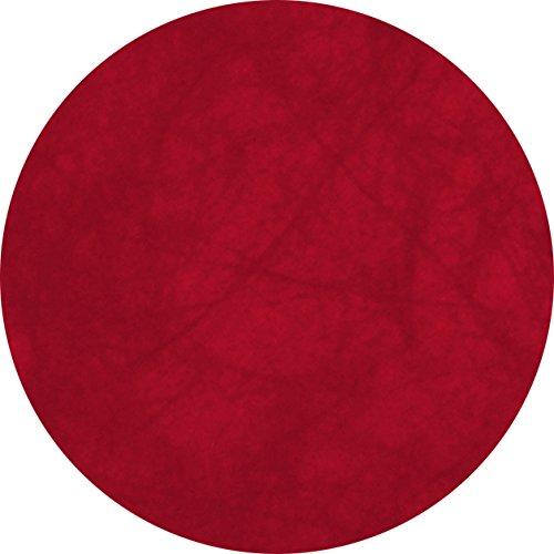 Chaks - Em422/bordeaux - Sachet de 10 Sets de Table Non Tissé Ronds 34 cm Bordeaux