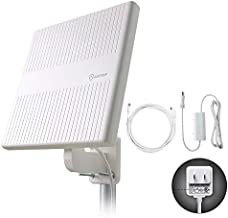 ANTOP Outdoor TV Antenna, 360° Omnidirectional HDTV Antenna, Built-in 4G LTE Filter& Smartpass Amplifier, 4K 1080P VHF UHF TV Channels, for Indoor,Outdoor,RV,Attic Use, Support All Older TV's AT-413B