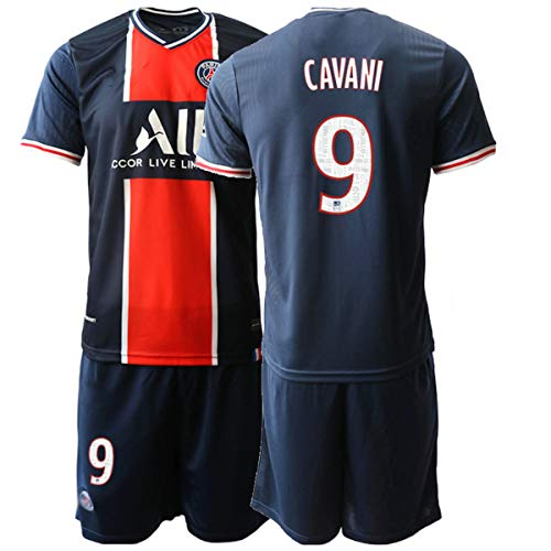 JEEG 20/21 Herren Cavani 9# Paris Saint-Germain Fußball Trikot und Shorts Fußball traininganzug (S)