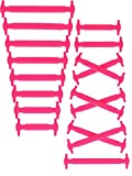 FUZZIO Elastische Schnürsenkel ohne binden Schnürsenkelersatz (Rosa)