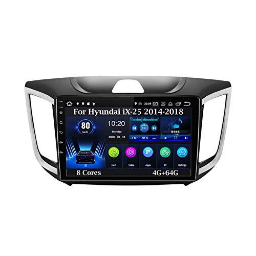 Android 9 Pulgadas Estéreo GPS Navigator De Coches Reproductor De Vídeo para Hyundai iX-25 2014-2018 8 Cores 4G+64G Car Player con Pantalla Táctil Coche Conecta Y Reproduce Coche Audio Video