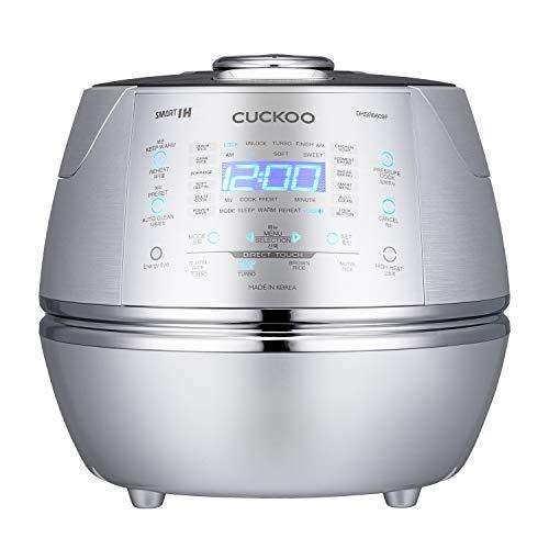 CUCKOO CRP-DHSR0609F Dampfdruck Induktion Reiskocher Schnellkochtopf & Schongarer, Edelstahl, programmierbar