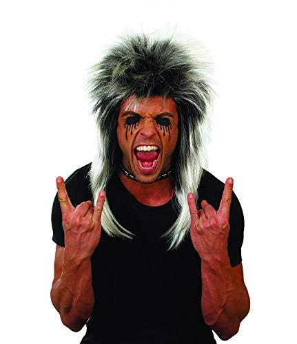 Fun Shack Schwarze 80er Jahre Rock Perücke, Rockstar Perücke für Erwachsene - Einheitsgröße
