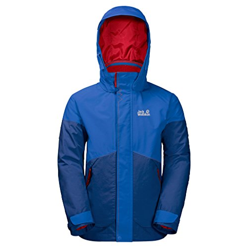 Jack Wolfskin Jungen B Polar Wolf 3-in-1 Jacket Jacke, royal Blue, 164