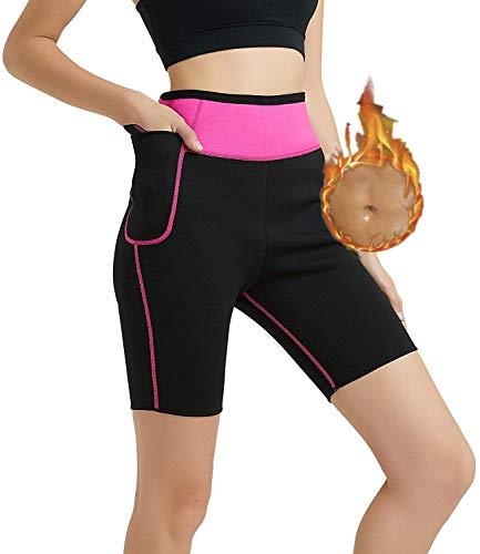 HuntDream Pantalones adelgazantes de mujer Neopreno para perder peso Grasa sudoración Sauna Capris Leggings Body Shapers