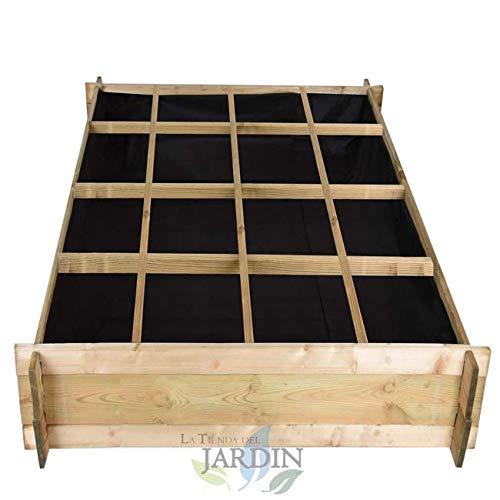 HUERTO URBANO de madera 134 x 134 x 24 cm, 16 departamentos. Perfecto para cultivar un huerto familiar en su hogar