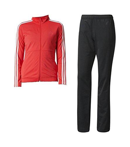 adidas Back2Bas 3S TS Trainingsanzug für Damen, Rosa (Rosbas/Weiß/Schwarz), XS