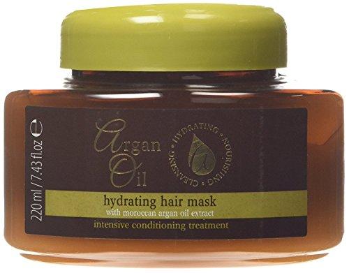 Masque hydratant pour cheveux à l'extrait d'huile d'argan marocaine 220 ml