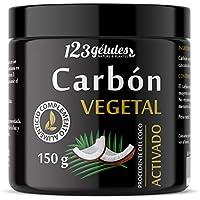 Carbón Vegetal Activado procedente del coco polvo 150 g