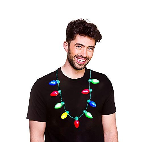 Wicked Costumes Unisex Festive Christmas Lights Necklace 6 Different Light Functions