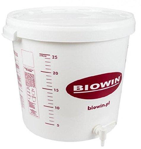Plastic Fermenter 30L con tapa + grifo de plástico - Cubo de plástico para fermentación | Fermentador | Tanque de fermentación | Contenedor de plástico