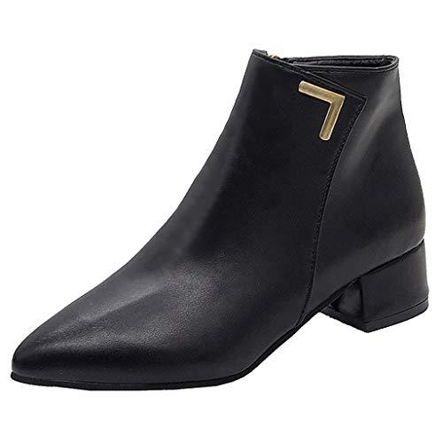 Preisvergleich Produktbild Yesmile Chelsea Boots Damen Wasserdicht Kurz Stiefeletten Schuhe Damen Winter Stiefel Warm Gefüttert Stiefeletten rutschfeste Worker Boots