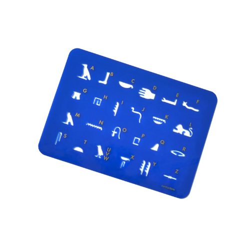 Schablone Hieroglyphen Hathor blau