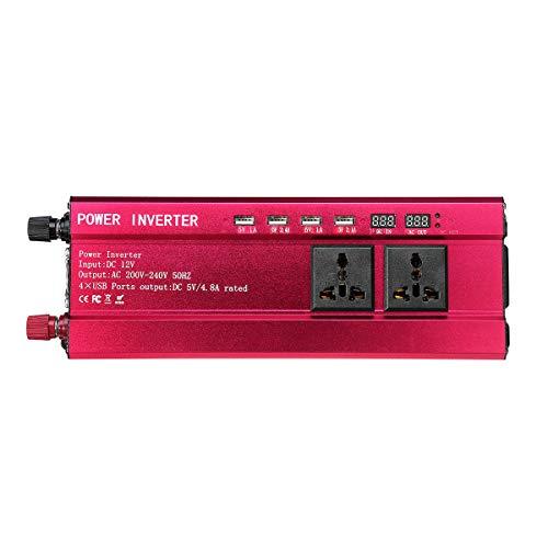 LICHONGUI 5000W Solar Power Watt Power Inverter Wave 240V Car Caravan Camping - 12V a 220V (Color : 12V to 110V)