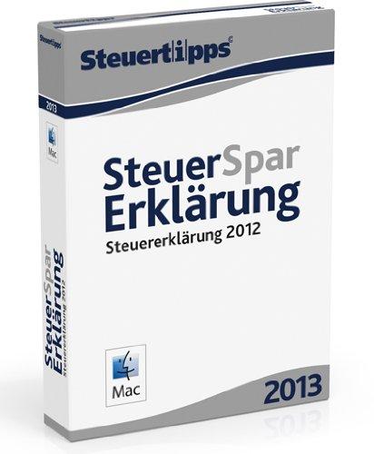 Steuer-Spar-Erklärung 2013 - Mac-Version (für Steuerjahr 2012)
