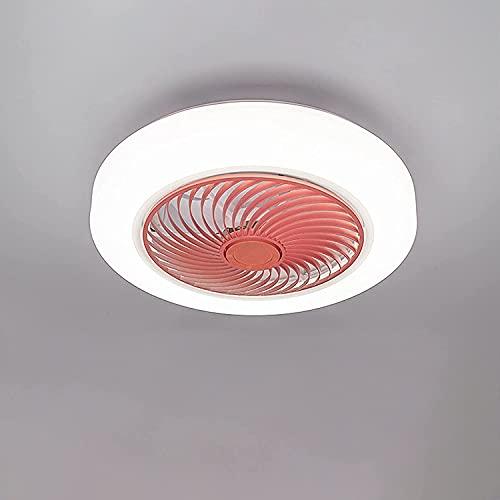 NZDY Ventilador de techo moderno de LED con iluminación remota y silencio, ajustable a 3-viento, velocidad ajustable, ajuste del techo, para el dormitorio