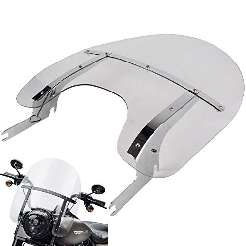 XFMT Clear Detachable Quick Release Windshield Windscreen Fit For Harley Davidson Road King FLHR 1994-2020
