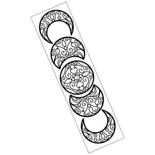 PRETYZOOM Fase Peel Stick Etiqueta de La Pared Lunar Eclipse Mural Pegatina Papel Pintado Arte para El Dormitorio de La Sala de Estar