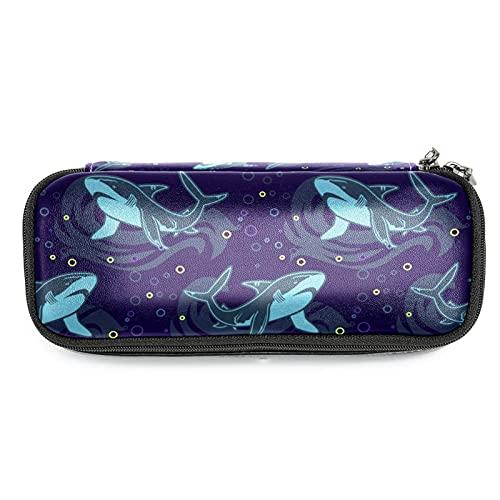 Estuche de Lápices Infantil Tiburones lindos Estuche Escolar Gran Capacidad Bolsa de lápiz Organizador de papelería para niña 19x7.5x3.8cm