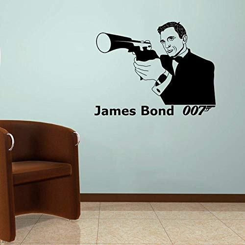 James Bond muursticker agent 007 Vinyl muurschildering Jongens kamer decoraties Home Decor Action Film Fans Posters Decoratieve Stickers 74 * 57cm