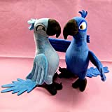 2pcs/lot 30CM New Rio 2 Movie Cartoon Plush Toys Blue Parrot Blu & Jewel Bird Dolls Christmas Gifts for Kids Plush Toy White