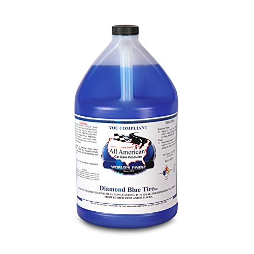 All American Car Care Products Diamond Blue Tire Dressing - Wet Look High Gloss Solvent Based Dressing (1 Gallon)
