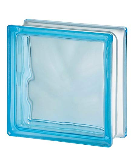 VITROLAND 628902 Bloque de Vidrio, Azul