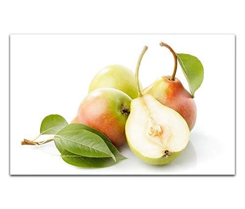 Acrylglasbilder 80x50cm Birne Birnen Obst Küche Frucht Acryl Bilder Acrylbild Acrylglas Wand Bild 14H078