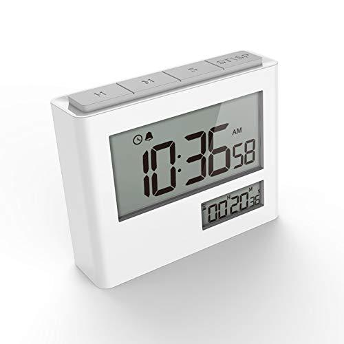 VOLUEX Timer Digitale con Orologio, Sveglia Digitale, Timer Elettronico, Timer e Orologio 2 in 1 con Conto alla Rovescia, Funzione di Allarme, Ampio Display per Cucina Lezione Studio Allenamento