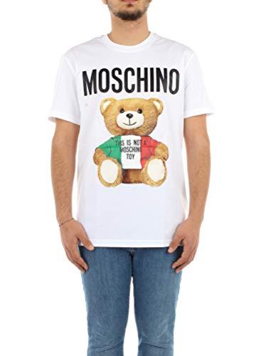 Moschino Couture Camiseta Manga Corta Italian Teddy Bear Modelo ZPV07202040 (Blanco, 46)