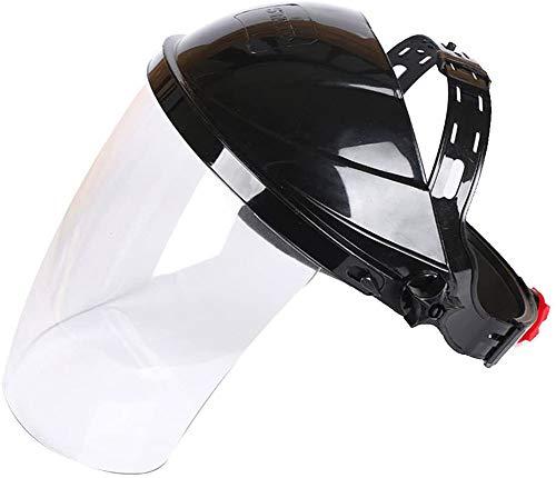 Depory Safety Pantalla Facial, Casco de Soldadura, Protector Facial, Lente Transparente antiUV antigolpes, máscara de Seguridad, protección de Ojos, Visera de la Cara ✅