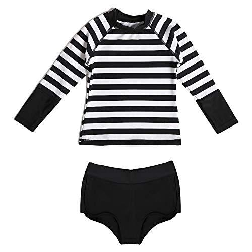 La-V meisjesbadshirt en zwembroek in set