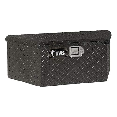 UWS EC20422 34-Inch Gloss Black Heavy-Wall Aluminum Trailer Tongue Tool Box with Low Profile, RigidCore Lid