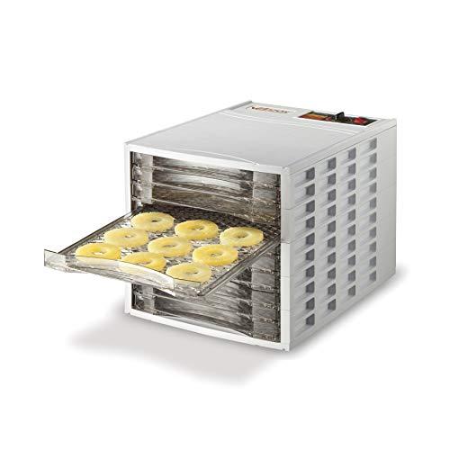 Weston Food Dehydrator Machine for Beef Jerky, Fruit Leather, Herbs, Dog Treats, Vegetables, Meats, BPA Free, 10 Slide Out Drying Racks (75-0201-W), Tray, Ultra Quiet Fan
