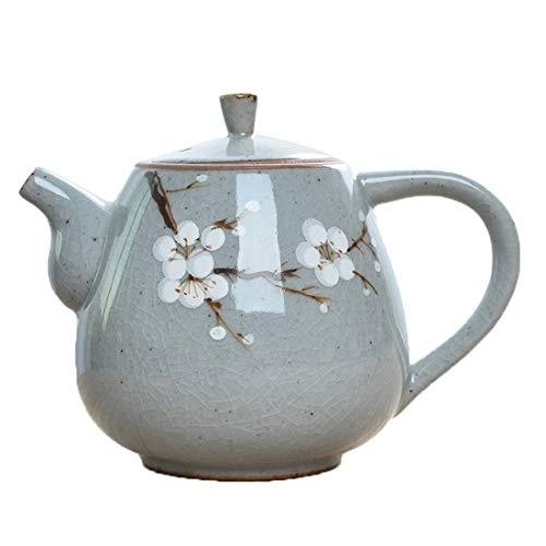 Amayay Teekanne Mit Keramik Teekanne Porzellan Teekanne Blau Teekanne Asiatisch Teekanne Einfacher Stil Deckel Emaille (3) (Color : 3, Size : Size)