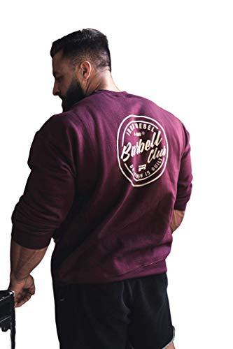 Iron Rebel Barbell Club Crew Sweatshirt (Maroon)-S