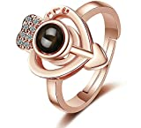 Сharm - Charm Fashion Cell Phone Projection 100 Different Languages I Love You Ring-Original Design - Fashion Jewelry - Ideal Gift for Birthday Valentine Christmas