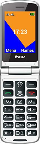 Telefono NGM modello FacileUP, dual sim, display 2,8', tasto SOS, Nero