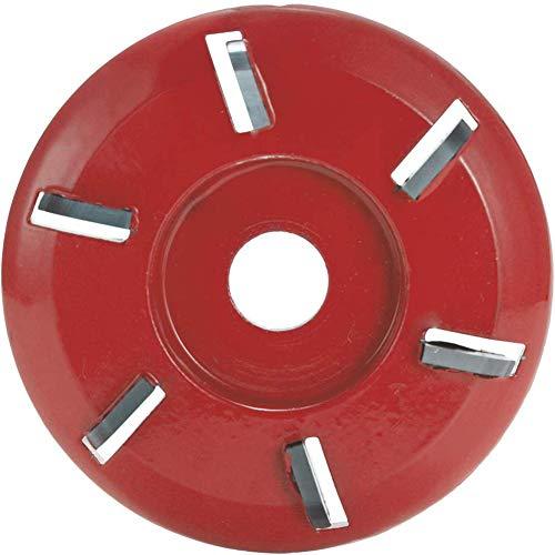 Boenxuan Holzschnitzscheibe 6 Dientes de alimentación Grinder Fresa Cadena para el ángulo Perforado (Rojo),Rojo