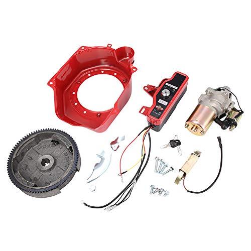 Mutuer Kit de Arranque eléctrico para automóvil, Interruptor de Volante del Motor de Arranque del Kit de Arranque eléctrico (Rojo)