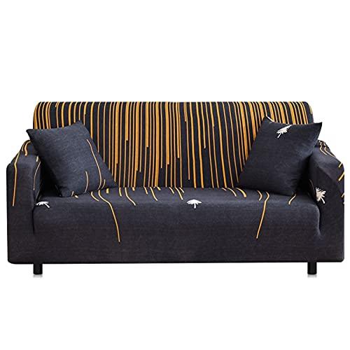 ASCV Funda de sofá Funda de cojín Todo Incluido Simple de Color sólido Funda Protectora de sofá de combinación Simple y Doble A2 1 Plaza