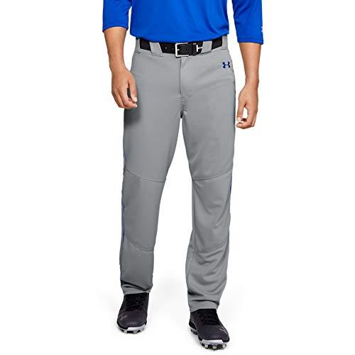 Under Armour - Pantalón de béisbol para Hombre, Hombre, Pantalones, 1317259, Béisbol Gris (081)/Azul Real, M