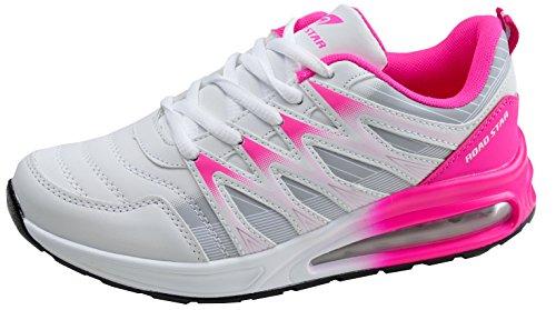 gibra® Sportschuhe, Art. 7227, sehr leicht und bequem, weiß/pink, Gr. 37
