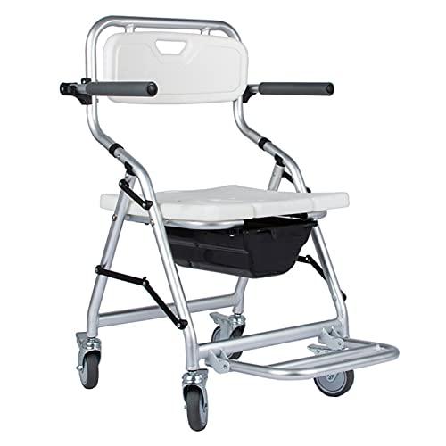 KJYT Sillas con Inodoro para Ancianos, Silla de Ruedas de enfermería para discapacitados Dispositivo de enfermería de Transferencia para discapacitados Ancianos lesionados discapacitados ✅