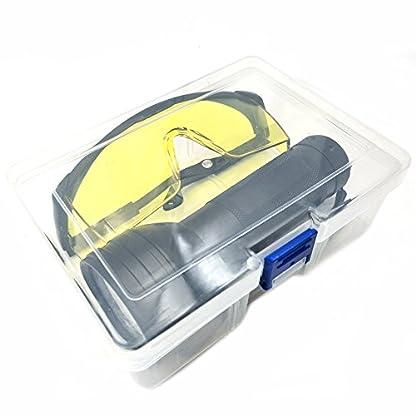 Nikauto UV Flashlight Black Light 51 LED Flashlight and UV Protective Glasses Goggles detector tool for Detecting pet Cat Dog Urine Repairing car Checking money 9