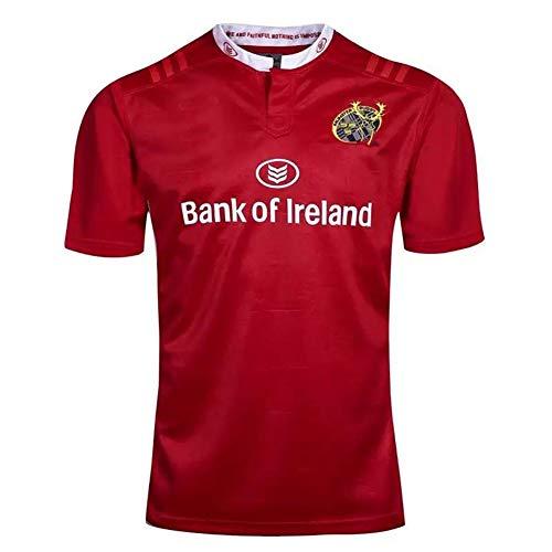 JUNBABY Munster Rugby Trikot, Herren Classic Munster Rugby T-Shirt, Fußballtrikot-red-XXL