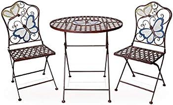3-Piece Alpine Corporation Indoor/Outdoor Butterfly Design Bistro Set